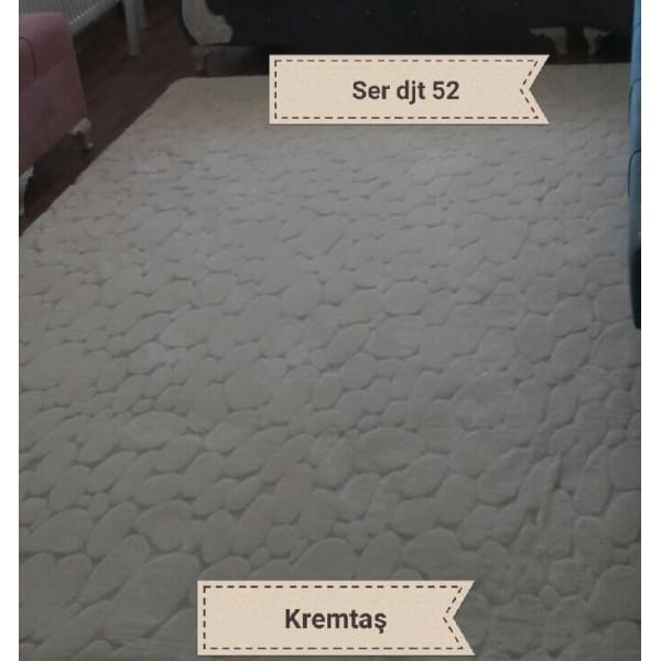 Serstil Krem Taş Lastikli Halı Örtüsü